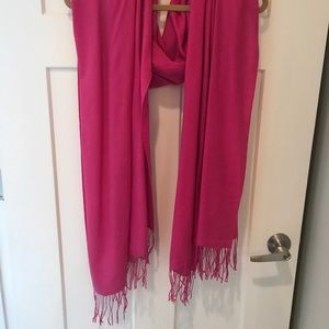 Nordstrom hot pink cashmere wool scarf shawl wrap